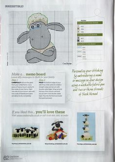Shaun the Sheep memo board Gallery.ru / Фото #44 - CrossStitcher 244 рождество 2011 - tymannost