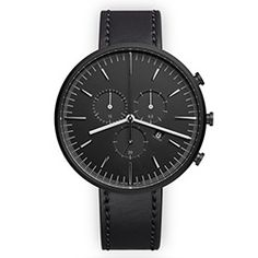 The M42 in PVD Black by Uniform Wares is a stunningly simple triple register chronograph made in Switzerland.