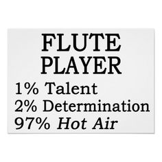 Flute Player Hot Air Poster