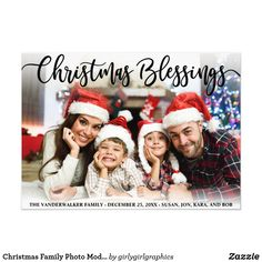 Shop Christmas Family Photo Blessings Script Holidays Canvas Print created by girlygirlgraphics. Personalize it with photos & text or purchase as is! Xmas Photos, Family Christmas Pictures, Family Christmas Pajamas, Holiday Pictures, Christmas Photo Cards, Family Photos, Xmas Family Photo Ideas, Xmas Cards, Shooting Photo Famille