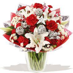 Christmas Wish Hand-tied bouquet of flowers www.eden4flowers.co.uk