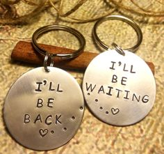 Set of 2,Couples Key Chains,Distance Keychains,Deployment Keychain,Deployment Gift,Police Officer Gift,Army,Navy,Air Force,Marines gift by SymbolicReflections on Etsy https://www.etsy.com/listing/240498175/set-of-2couples-key-chainsdistance