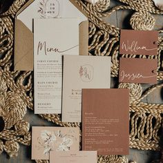 Brown Wedding Invitations, Elegant Invitations, Wedding Stationary, Invitation Ideas, Sedona Wedding, Boho Wedding, Wedding Themes, Wedding Cards, Wedding Ideas