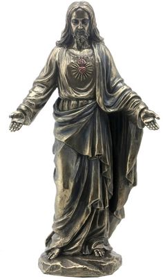 Sacred Heart Of Jesus With Open Arms Religious Figurine Statue Sculpture Statuary-Home Décor-Decorations-Christian Related Gifts-Available for Sale at AllSculptures.com