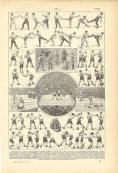 1922 - Poster - BOXING - French Dictionary Illustration via Etsy