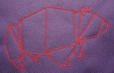 lukola handmade // embroidered origami bear