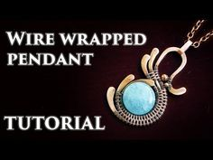 TUTORIAL Wire wrapped pendant with round drilled stone bead. This is my very first video tutorial on how to make wire wrapped pendant from copper wires and a drilled stone bead. Give this video a thumb up if Wire Tutorials, Diy Jewelry Tutorials, Wire Wrapped Pendant, Wire Wrapped Jewelry, Wire Jewelry Making, Wire Jewellery, Jewelry Clasps, Jewellery Shops, Jewelry Tree
