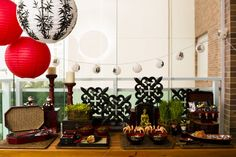 open house tema japones, festa japonesa, japan party, decoração oriental, chinese party, comida japonesa, sushi, temaki, origami, luminária, decoração festa