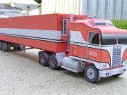 Kenworth K100 Truck Free Vehicle Paper Model Download