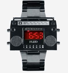 rockin' the boom box watch.  Flud BoomBox (Gunmetal)