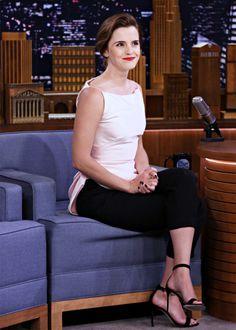 Emma Watson - Tonight Show starring Jimmy Fallon (4/27/17). Pinned by @lilyriverside