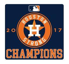 NEW! MLB 2017 Houston Strong/Houston Astros Sticker Decal WORLD SERIES CHAMPS! #Unbranded #HoustonAstros