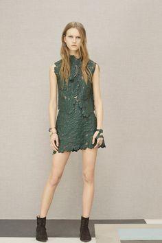 Elie Saab | Pre-Fall 2016 | 14 Green sleeveless top and mini skirt