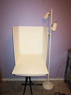 Homemade photo studio light box - I was thinking its a great way to picture smaller things or hey even items you want to put up for sale.