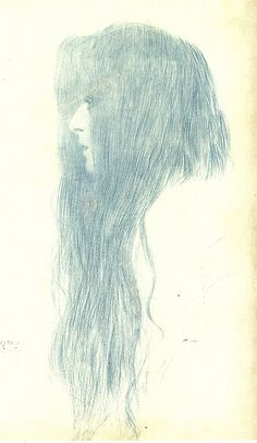 Gustav Klimt: Girl With Long Hair by deflam, via Flickr
