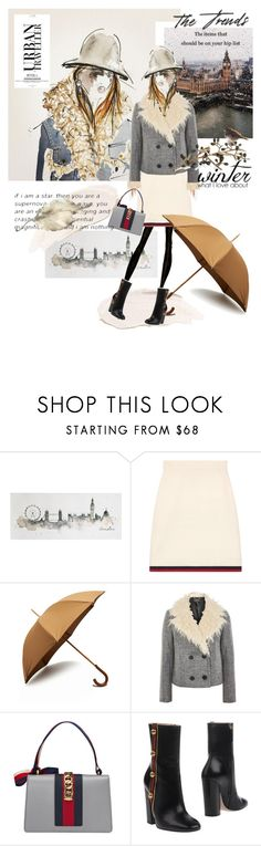 """""""December 8,2017"""" by anny951 ❤ liked on Polyvore featuring Graham & Brown, Gucci, London Undercover, Topshop and Michael Aram"""