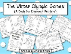 THE WINTER OLYMPIC GAMES {A BOOK FOR EMERGENT READERS}  Introduce relevant vocabulary, trace sight words, and add to the scenes as you learn about some of the events in the upcoming Olympic games.  - TeachersPayTeachers.com  $