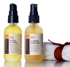 GingerChi Face Oil Cleanser & Ginseng Toner Facial by GingerChi