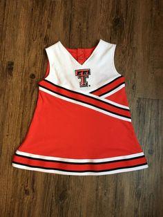 Texas Tech TTU Cheerleader Outfit 3T Halloween Costume Red Raider Baby   eBay