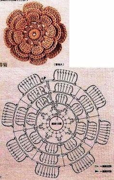 Watch The Video Splendid Crochet a Puff Flower Ideas. Phenomenal Crochet a Puff Flower Ideas. Crochet Diy, Beau Crochet, Crochet Puff Flower, Crochet Flower Tutorial, Crochet Chart, Crochet Flower Patterns, Crochet Diagram, Crochet Motif, Crochet Designs