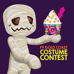 "@foreveryogurt's photo: ""Take a photo with your favorite costume and froyo cup at Forever Yogurt Gold Coast! Use #foreverspooky to enter. The top 3 winners will receive a $10 gift card!"""
