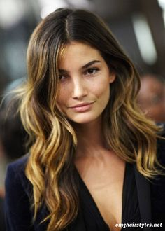Lily Aldridge balayage ombre hair hairstyles hairtrends nak nakhair