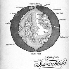 The Hollow Earth Hypothesis, from The Goddess of Atvatabar, 1892.