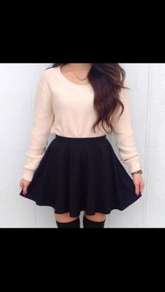 Skater skirt & high knee socks