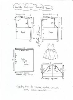 Baby Dress Sewing Pattern Tutorials 18 Ideas For 2019 Kids Dress Patterns, Kids Clothes Patterns, Baby Patterns, Clothing Patterns, Sewing For Kids, Baby Sewing, Dress Tutorials, Kids Outfits, Kids Fashion