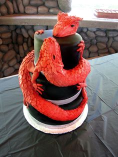 Red Dragon Wedding Cake didn't know if I should put this under Food or Fine Art
