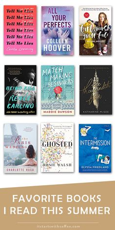 favorite books I read this summer