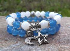 Hey, I found this really awesome Etsy listing at https://www.etsy.com/listing/218674596/set-of-2-yoga-bracelet-om-bracelet