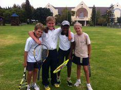 Senior Primary tennis players beat Parklands College 6 - 4.