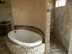I have shown this home. This is a new thing around here in Abilene, Tx. This one was done by Frank Langley with Countryside homes. The shower is a walk through. no shower doors to clean. I love it. Walk Through Shower, Tile Walk In Shower, Walk In Shower Designs, Shower Doors, Hidden Shower, Stone Shower, Bathroom Renos, Small Bathroom, Master Bathroom