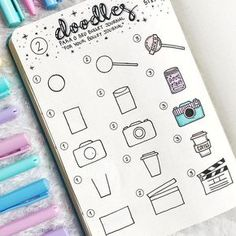 bullet journal 36 Simple Doodles You Can Easily Copy in Your Bullet Journal - Simple Life of .- bullet journal 36 Simple Doodles You Can Easily Copy in Your Bullet Journal - Simple Life of . Bullet Journal Banner, Bullet Journal Notes, Bullet Journal Aesthetic, Bullet Journal Notebook, Bullet Journal Ideas Pages, Bullet Journal Inspiration, Journal Prompts, Bullet Journal For Kids, Bullet Journal Decoration