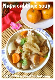 Chinese Soup Recipes, Fish Recipes, Napa Cabbage, Cabbage Soup, Whole Chicken Soup, Chinese Cabbage, Chinese Food, Dried Scallops, Soup Dish