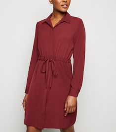 Specifically Curated Mod Apparel, Classic Pieces, Trendy Fashion and Maximum Style. Teaching Outfits, Long Sleeve Shirt Dress, Business Outfits, Drawstring Waist, New Dress, New Look, Work Wear, Latest Trends, Wrap Dress