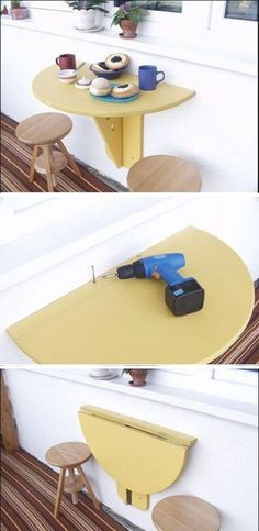 #DIY #Balcony Folding Table. Regardless of size, every balcony should have one of these!
