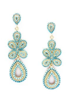 Daya Turquoise Earrings.. I love these! Very Paisley!