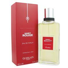 Guerlain Habit Rouge Men's 3.3-ounce Eau de Parfum Spray (1), Red cinnamon, Size 3.1 - 4 Oz.