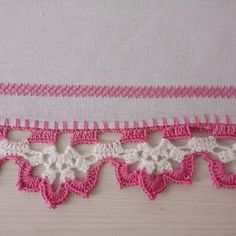 Crochet Lace Edging, Crochet Borders, Cotton Crochet, Crochet Stitches, Crochet Winter, Crochet Home, Love Crochet, Lace Patterns, Stitch Patterns