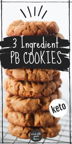 Low Carb Sweets, Low Carb Desserts, Low Carb Recipes, Healthy Desserts, Keto Snacks, Healthy Peanut Butter Cookies, Peanut Butter Cookie Recipe, Keto Cookies, Cookie Recipes