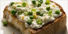 Bruschetta With Ricotta And Peas recipe from HERB