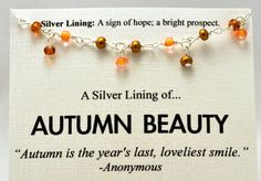 Gold and Orange Beaded Autumn Beauty by SimpleSilverLinings