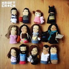 kraftcroch: ♥ Pato Garabato y su súper familia de kraftcrochitos #fingerpuppets #crochet #family