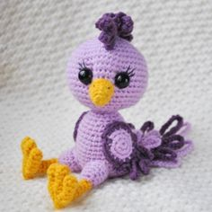 Purple Bird amigurumi pattern