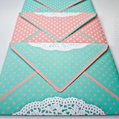 DIY cute envelopes. this site has awesome origami like crafts with paper