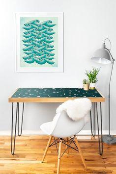 Ocean Retro Vibe  Poster Print 8x10 or 11x14  by PomGraphicDesign #homedecor #decor #decorideas #interiordesign #nautical #seawaves #seawavesillustration #oceanillustration #waves #poster #nauticaldecor #retro