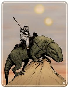 Patrol at Dusk by ~jpc-art on deviantART | This art first pinned here: http://pinterest.com/fairbanksgrafix/star-wars-art/ #StarWars #Art