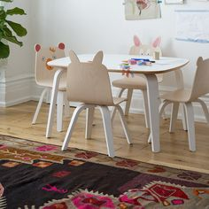 Fun Playroom Chairs in Birch or Walnut by Oeuf